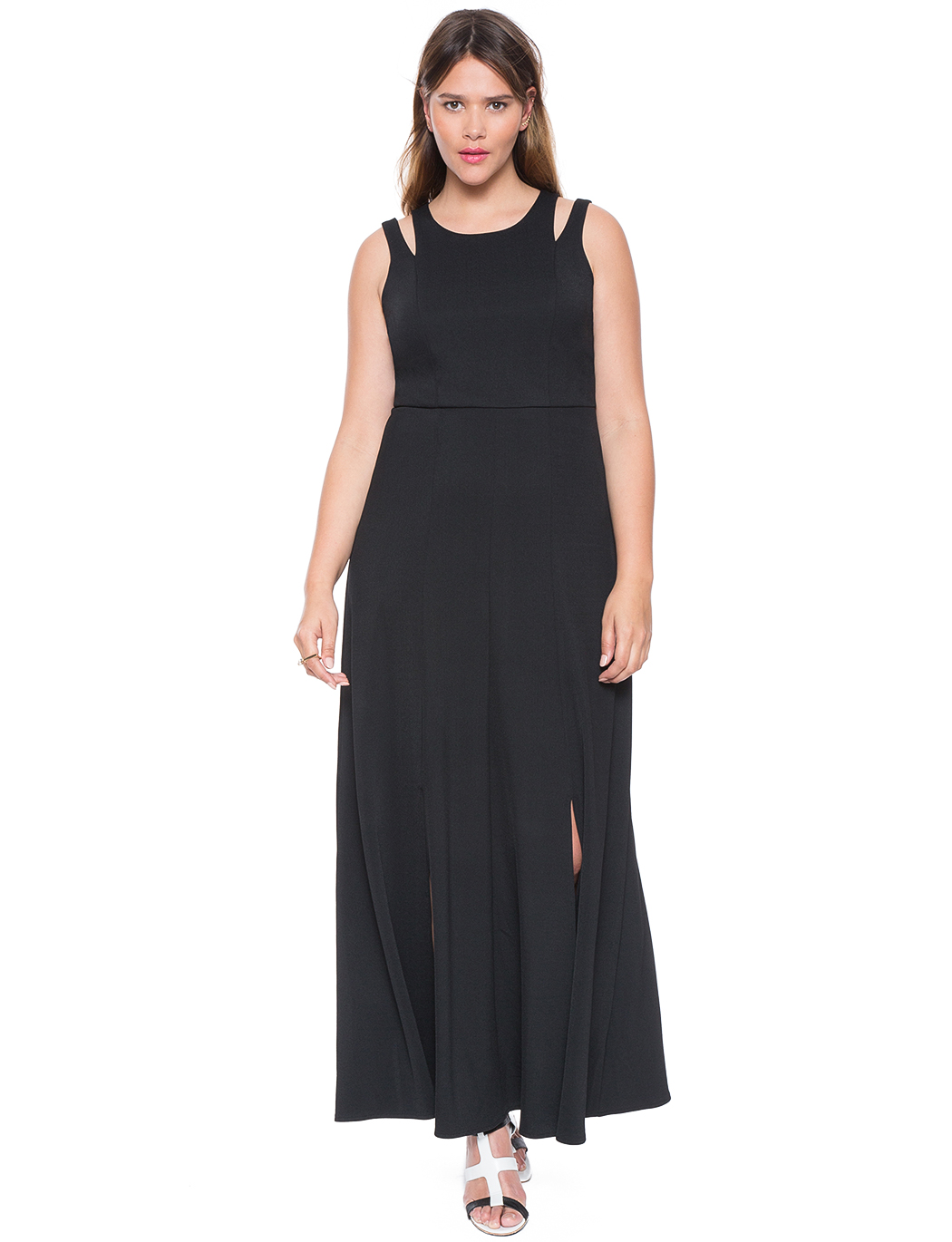 Studio Double Slit Maxi Dress | Women\'s Plus Size Dresses | ELOQUII