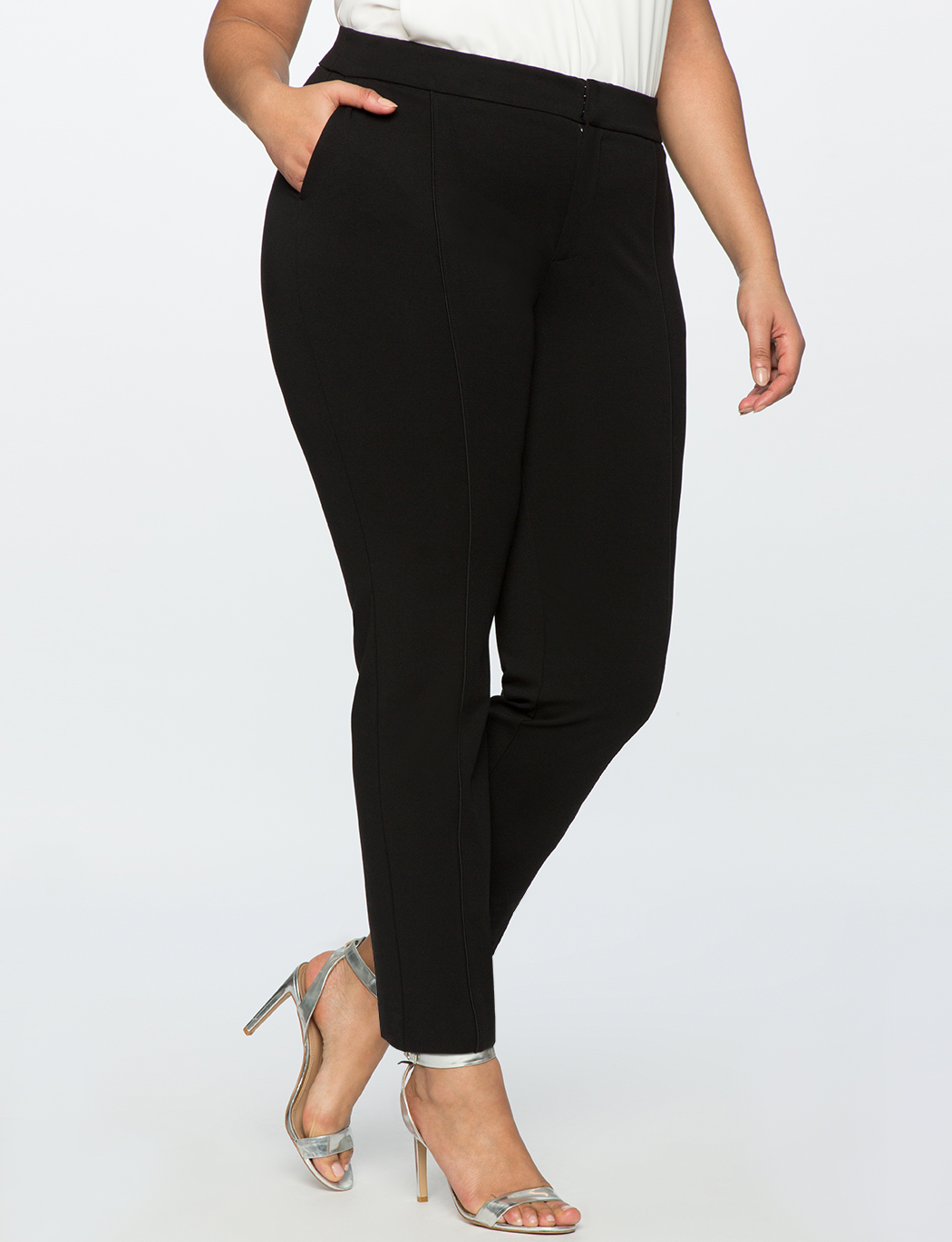 9-to-5 Stretch Pintuck Pant