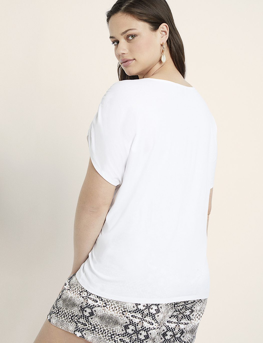 Gathered Shoulder Tee