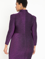 Turtleneck Bodycon Dress Purple