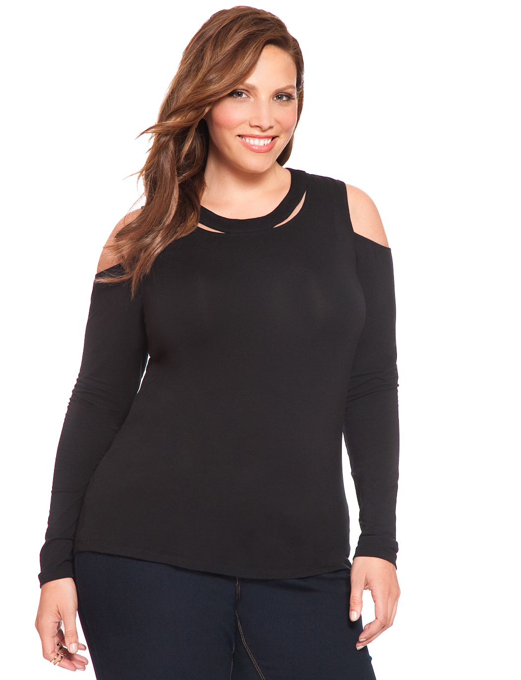 db7baea01c6e6 Cutout Shoulder Top