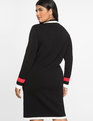 Cardigan Sweater Dress Black/White/Red