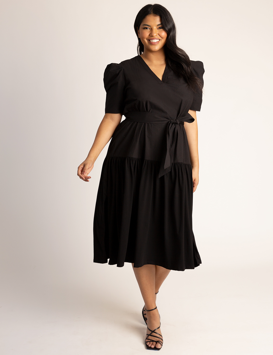 Puff Sleeve Midi Dress 5