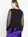Mixed Media Blouse Totally Black