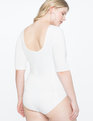 Ballet Bodysuit with Elbow Sleeve WHITE