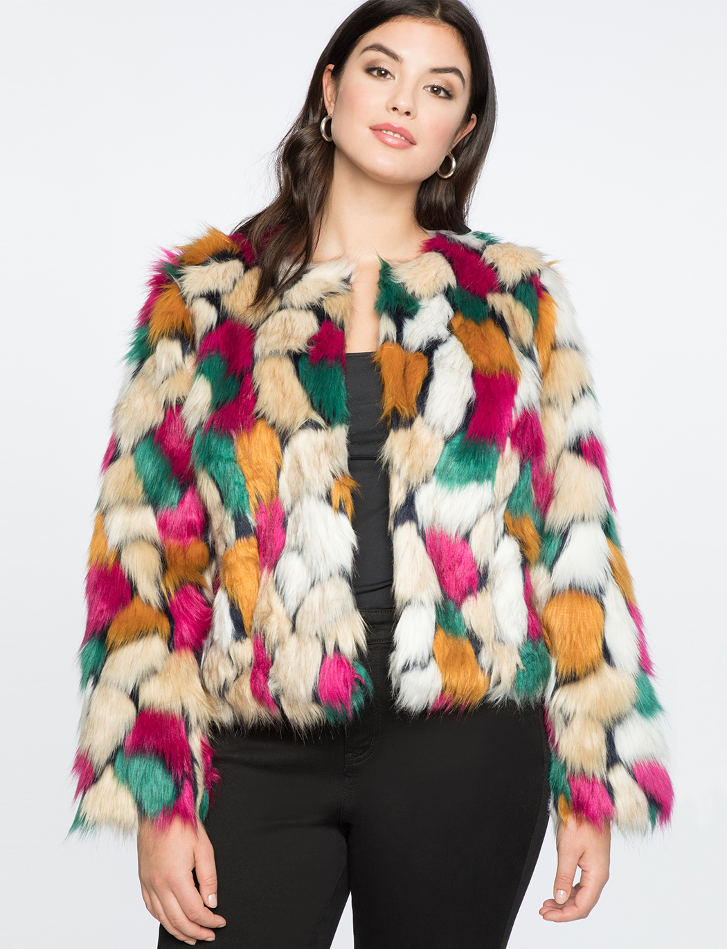 8b947dbf9cd Cropped Faux Fur Coat