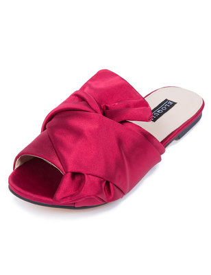 Ava Satin Bow Slide Sandal