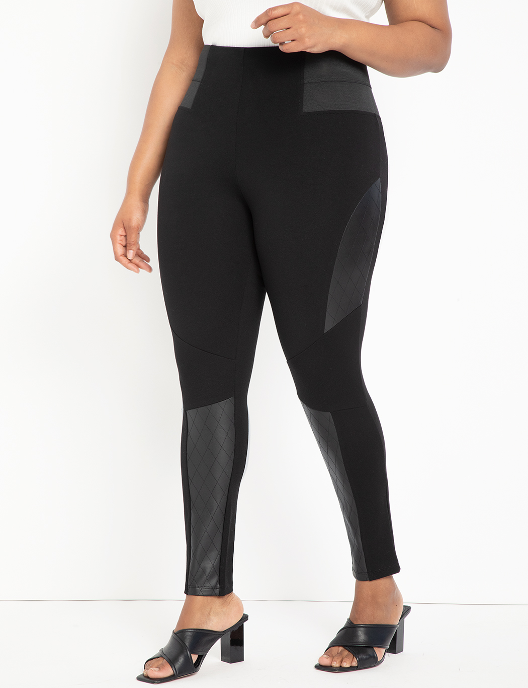 Miracle Flawless Legging with Quilted Moto Detail