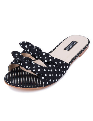 Ella Double Bow Slide Sandal
