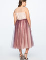 Tulle Ball Gown WINE/NUDE