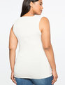 Draped Wrap Front Top Soft Cream