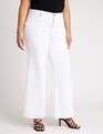 High Waisted Flare Leg  Jean White