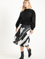 Printed Midi Skirt Dots Your Size