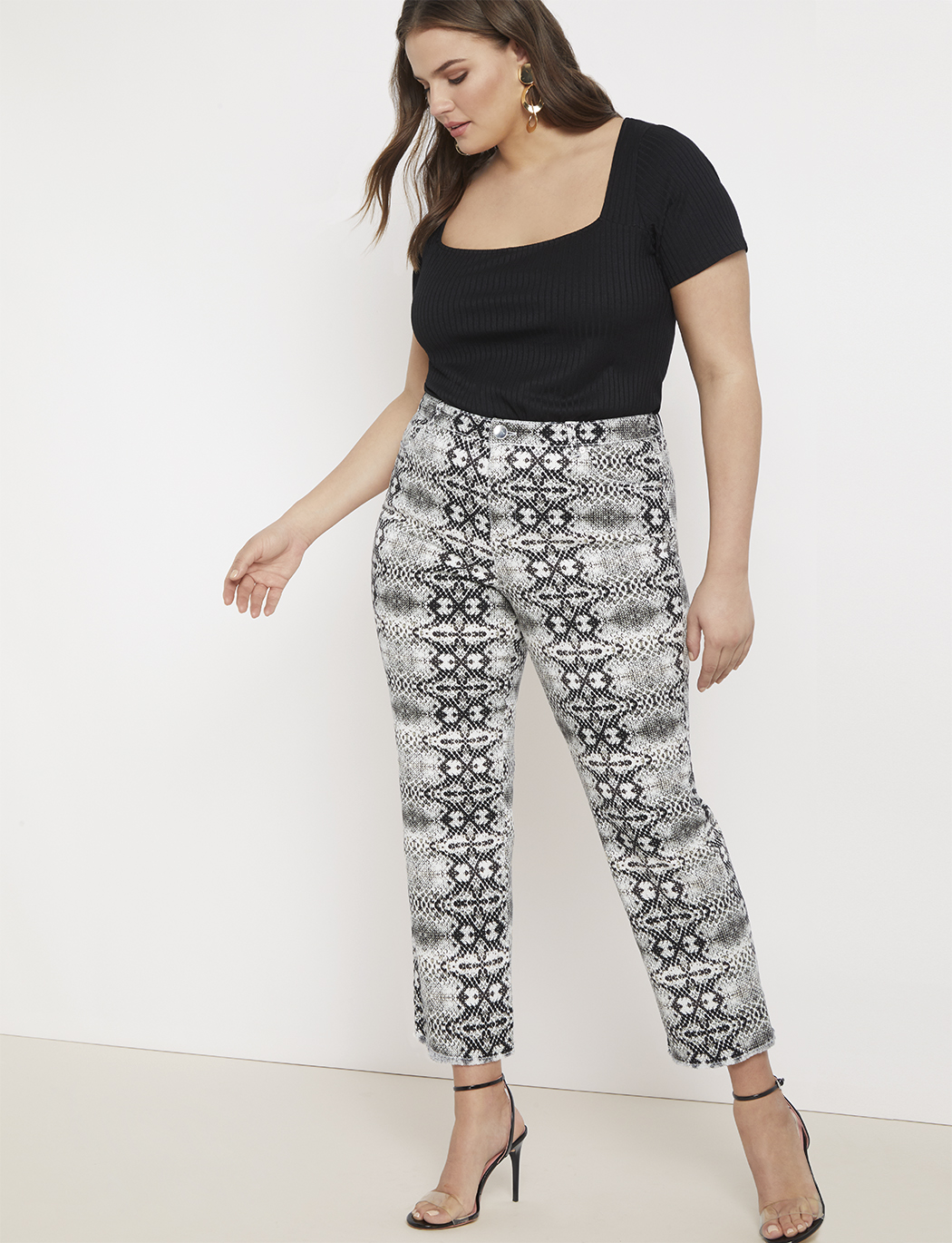 Snake Print Relaxed Jean