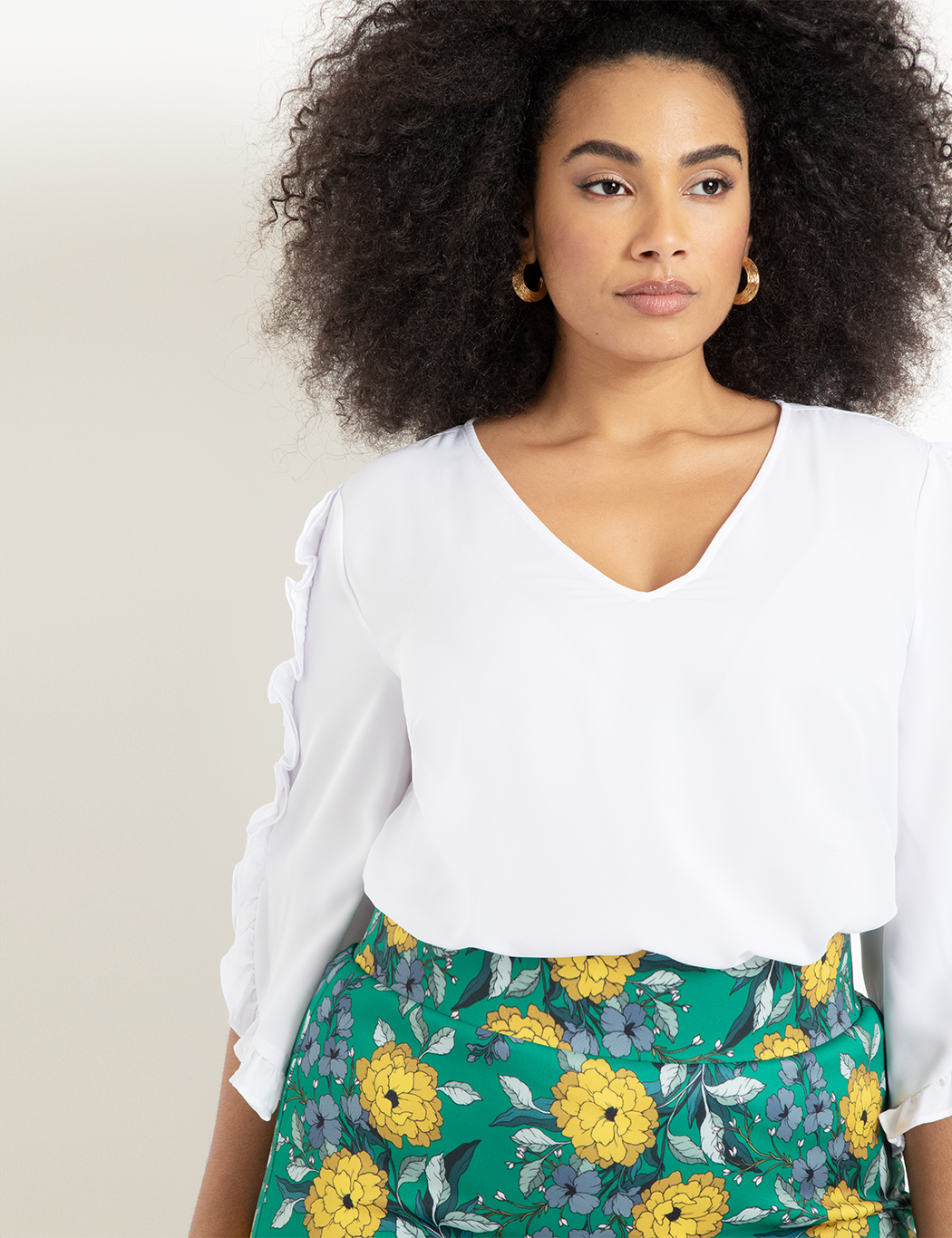 Skyes The Limit Womens Plus Size Crepe Blouse