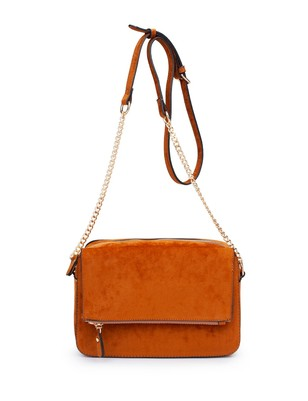 Faux Suede Crossbody - Extended Length