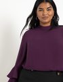 Dramatic Sleeve Top Potent Purple
