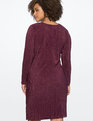 Knot Front Accordion Dress Potent Purple