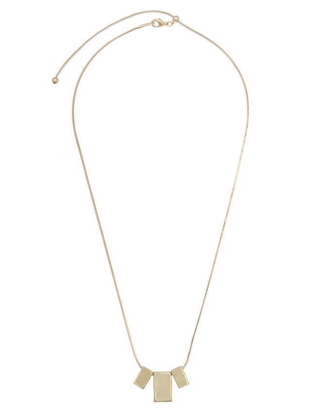 Rectangle Drop Necklace