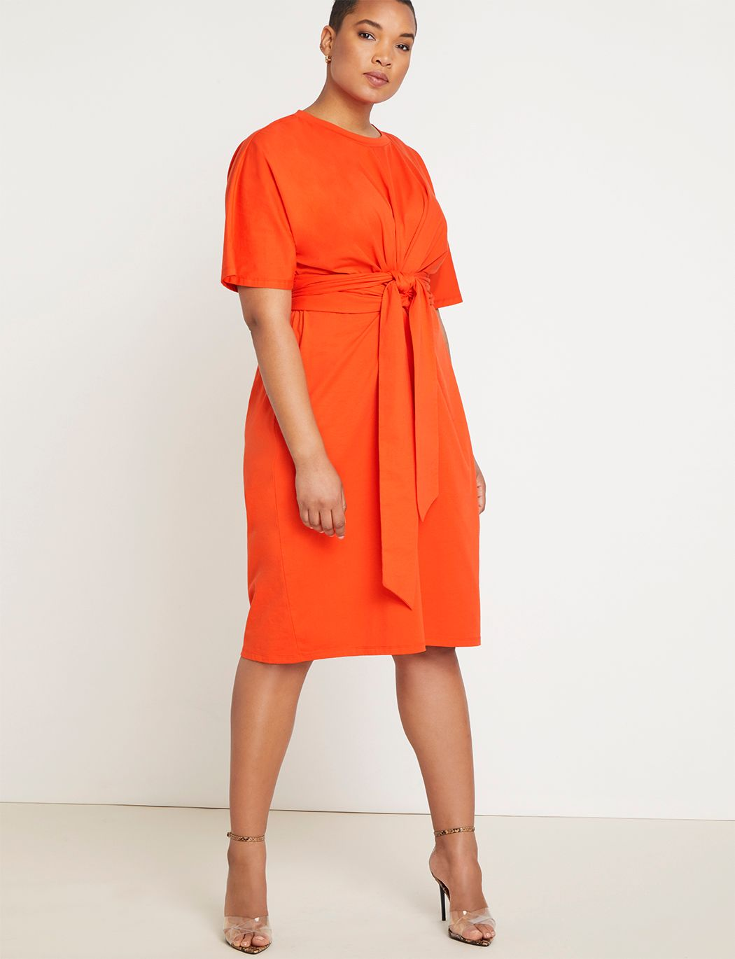 Cross Front Flutter Sleeve Dress 9