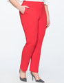 Stretch Work Ankle Pant Goji Berry