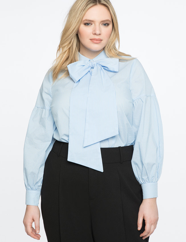 Long Sleeve Bow Blouse