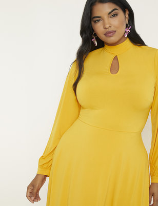 Keyhole Fit & Flare Dress