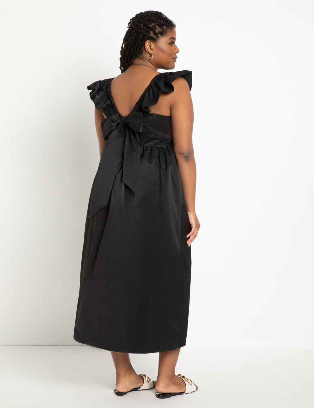 Tie Back Dress with Ruffles