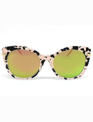 Cat Eye Contrast Sunglasses