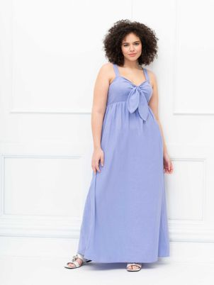 ELOQUII Elements Tie Front Tank Dress