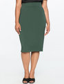 Neoprene Pencil Skirt Bloodstone Green