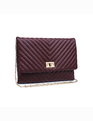 Quilted Clutch Burgundy