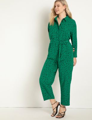 Printed Jumpsuit With Pockets