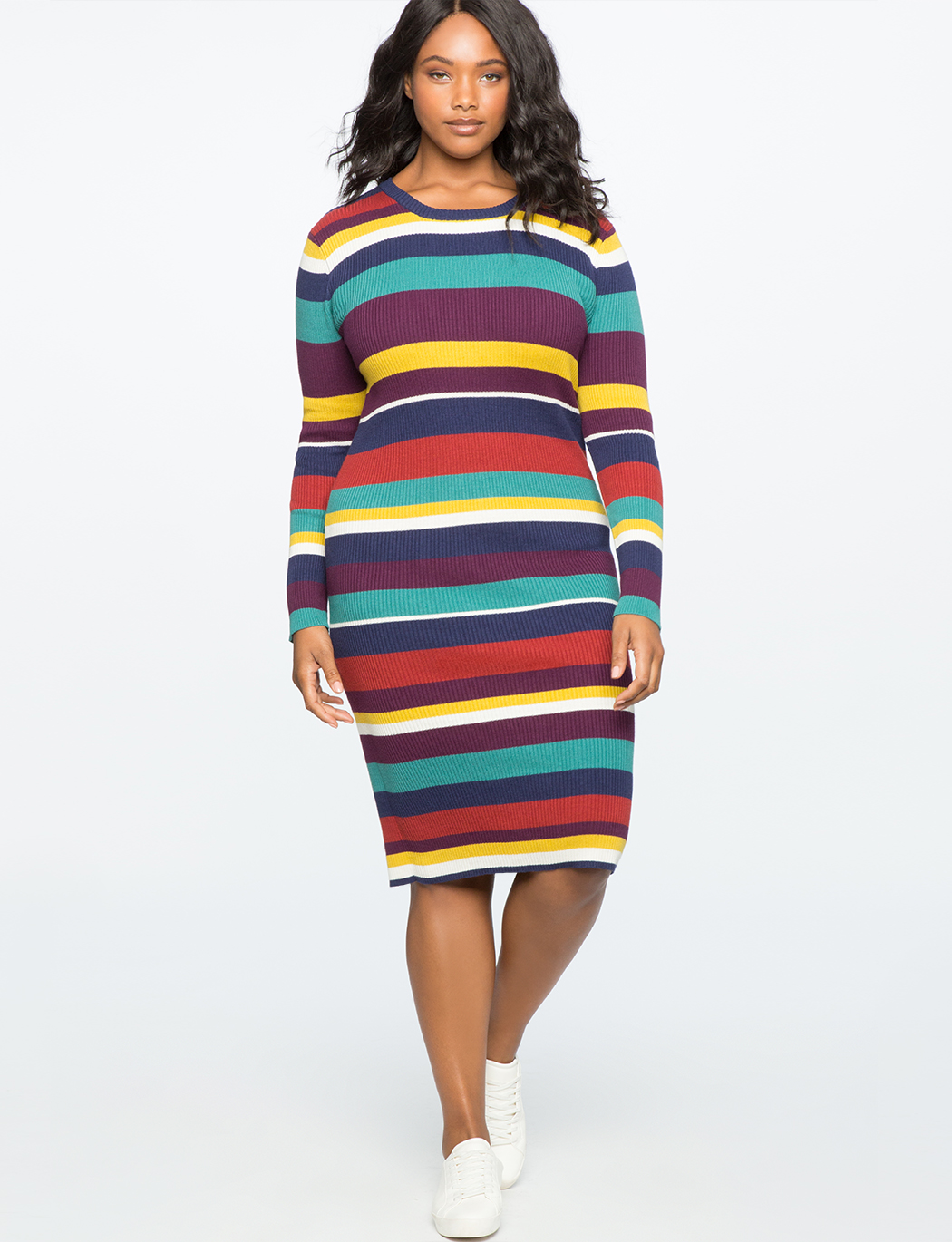 95f5283d3b Rib Knit Sweater Dress