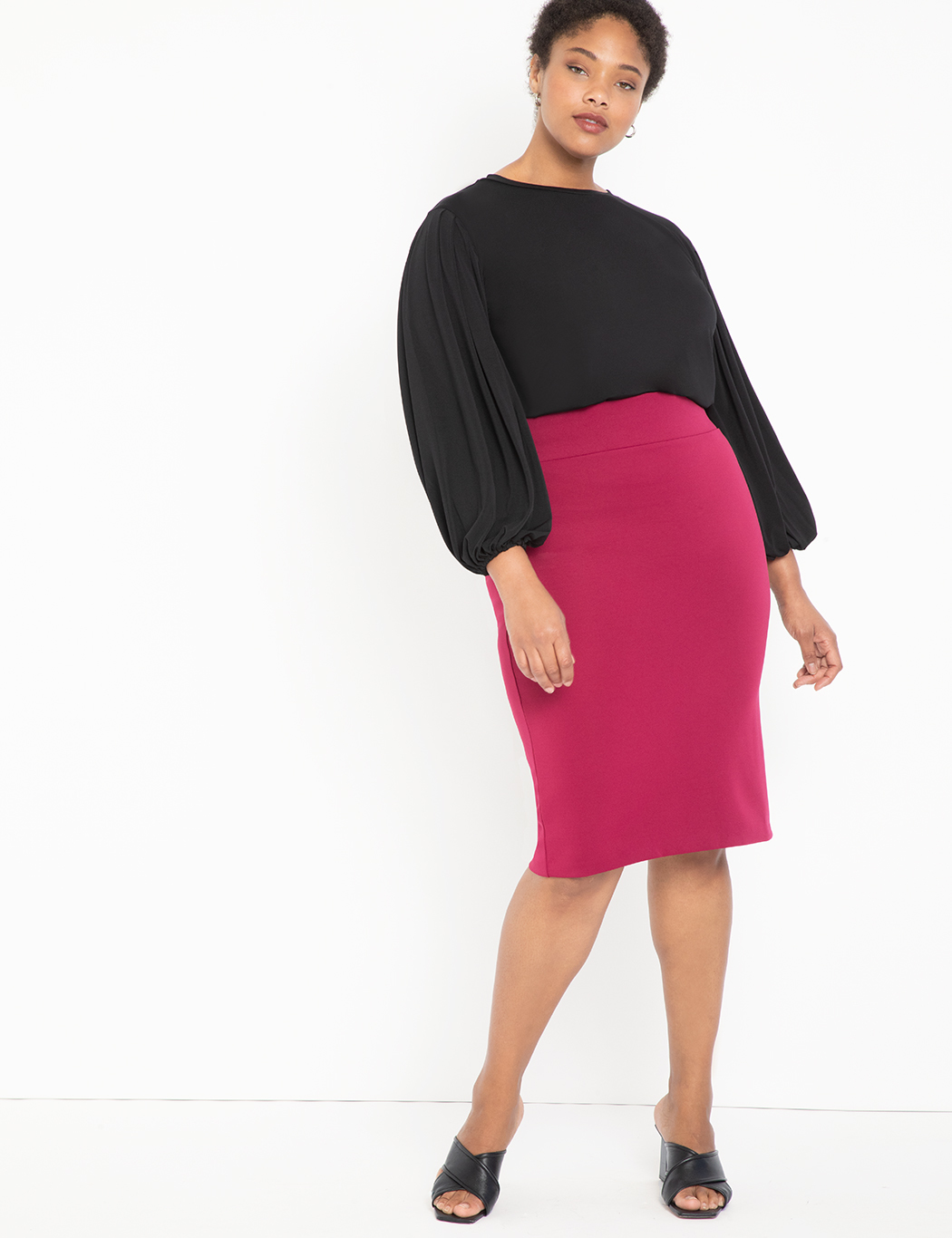 Dramatic Pleated Sleeve Top