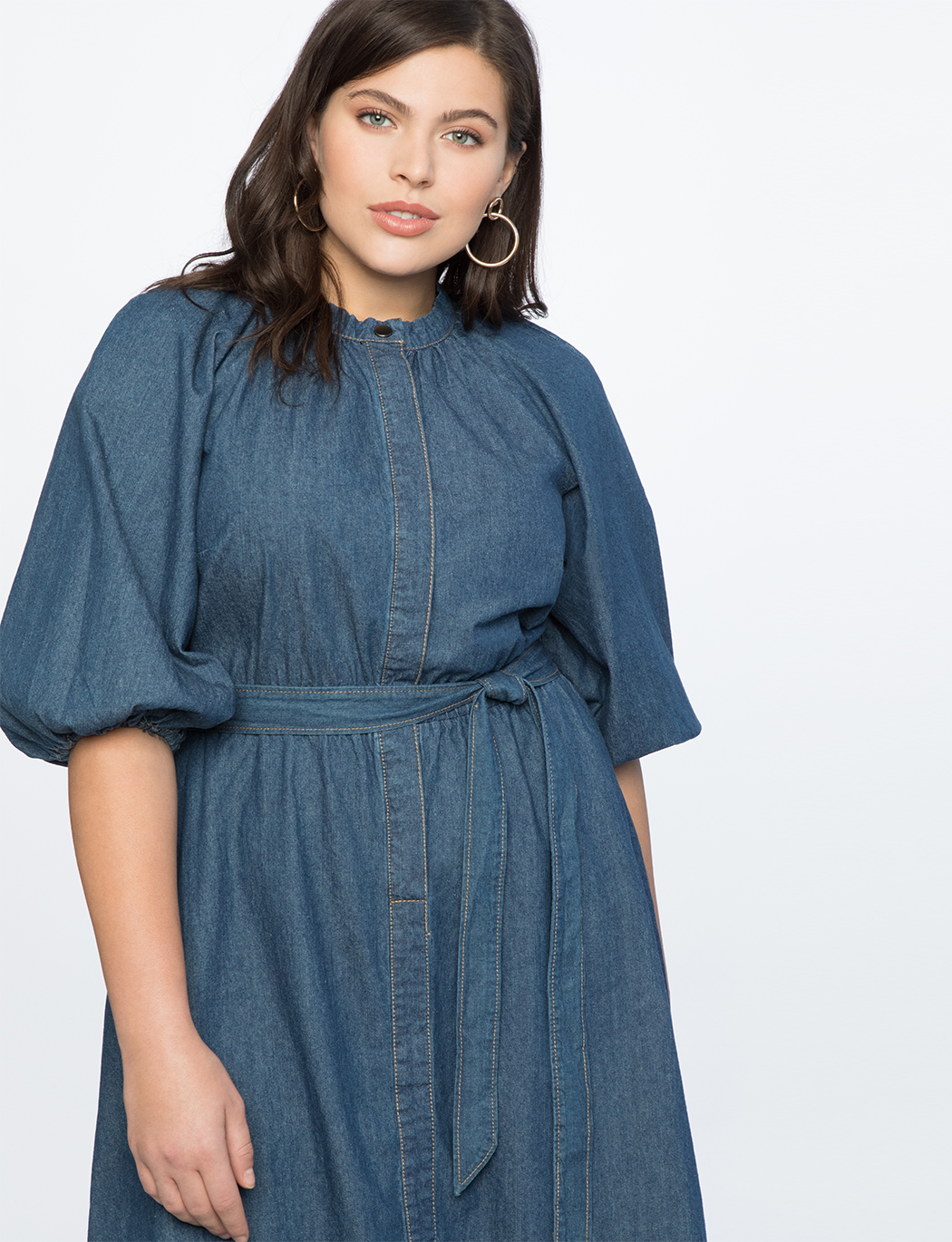 Puff Sleeve Shirtdress