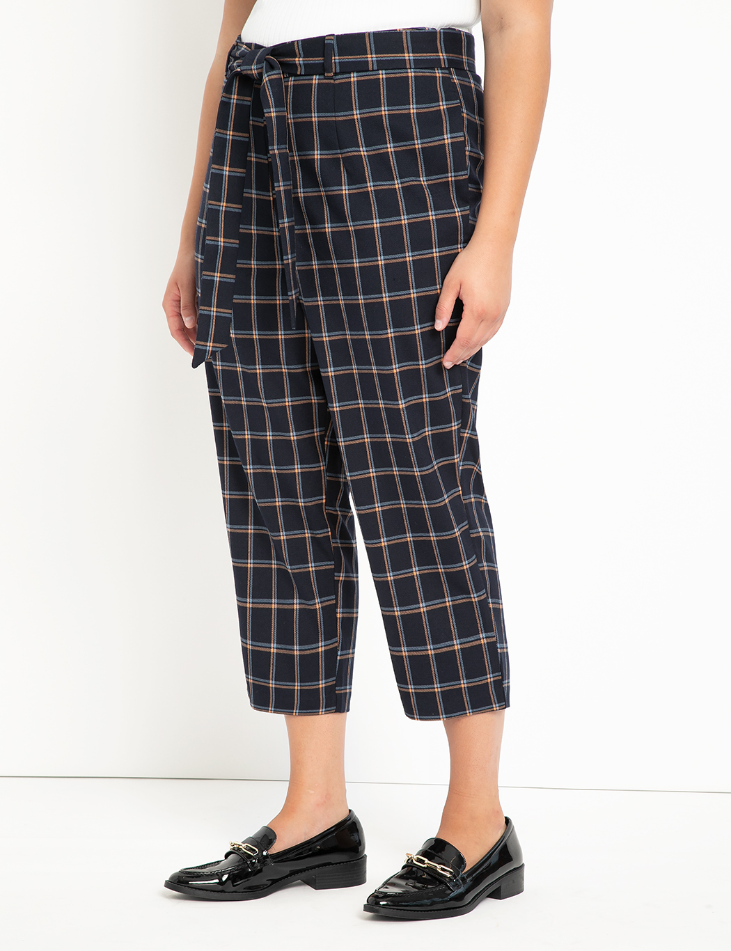 Crop Plaid Trouser