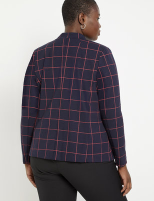 9-to-5 Windowpane Blazer
