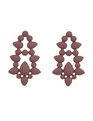 Teardrop Statement Stud Earrings Dark Mauve