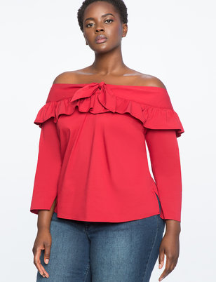 Off the Shoulder Tie Top