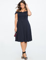 Bardot Dress with Strap Detail BLUEBERRY