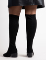 Riko Over the Knee Boot Black Suede