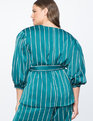 Pinstripe Puff Sleeve Jacket Cadmium Stripe