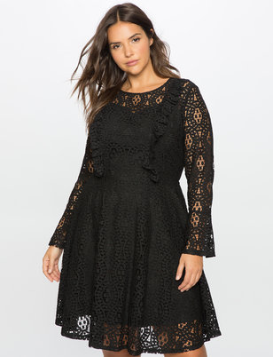 Studio Lace Fit and Flare Dress