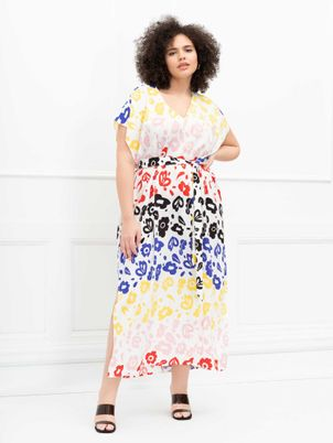 ELOQUII Elements Belted Maxi Dress