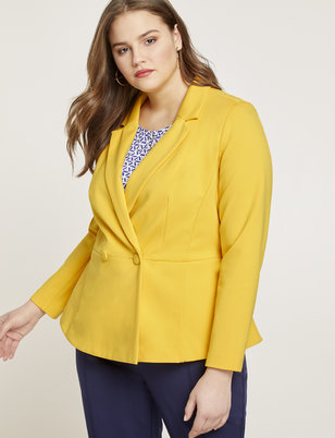 9-to-5 Peplum Stretch Blazer