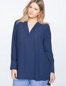 Easy V Neck Tunic Evening Blue