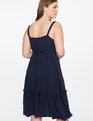 Pom Pom Trim Dress Maritime Blue
