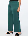 Wide Leg Trouser With Piping Verdant Green and Fanfare