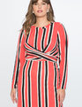 Striped Ottoman Tie Back Midi Dress Stripe Please